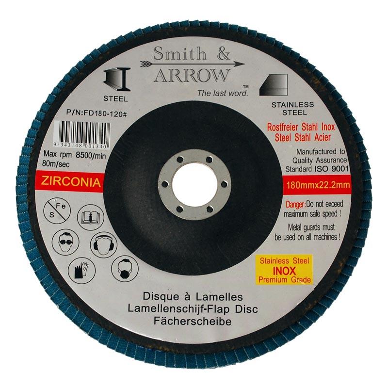 10 X 60 GRIT 115MM FLAP DISC ANGLE GRINDING SANDING WHEEL ZIRCONIUM 22.2MM STEEL